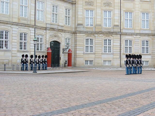 Amalienborg, el palacio de Copenhague