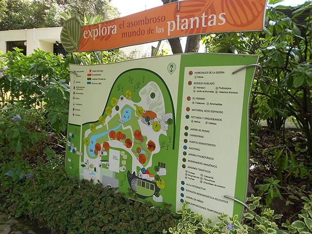 mapa jardín botánico Quito