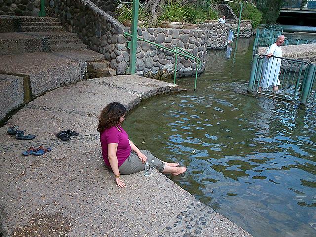 Imersión en Yardenit, río Jordán, Israel