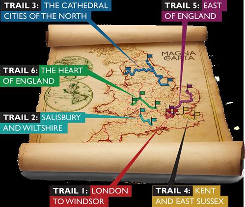 Mapa Recorridos Carta Magna Imagen Magna Carta Trails