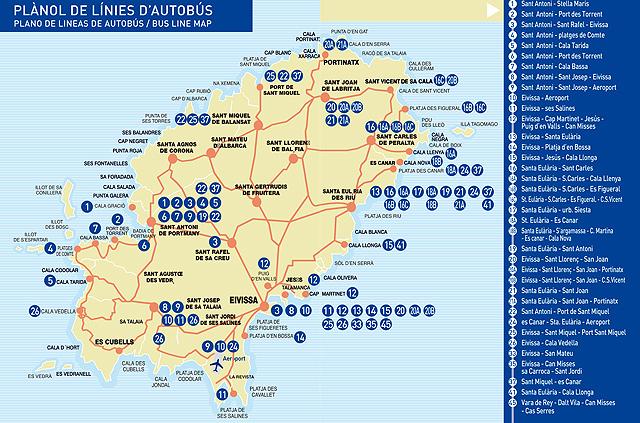 Cmo Moverse por Ibiza en Autobs  Travelling Dijuca