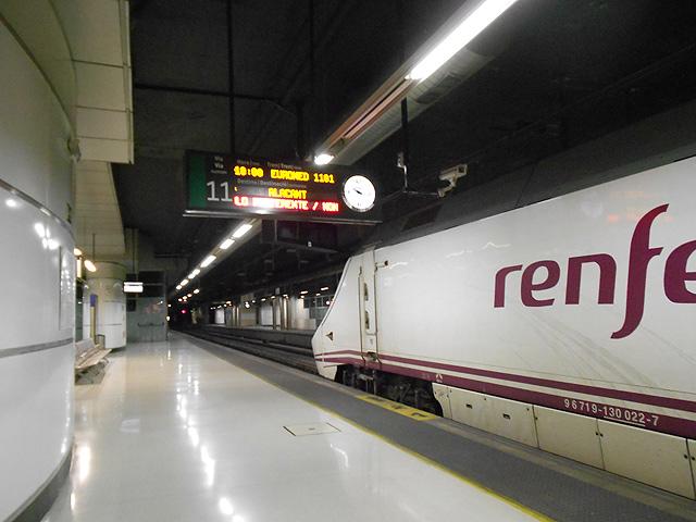 Tren Euromed en Estación de Barcelona Sants